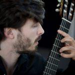 Francesco Rocco performing on a Panhuyzen guitar